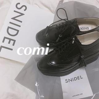 スナイデル(snidel)の❤️完売品❤️ スナイデル オックスフォードシューズ オックスフォード 黒 今季(ローファー/革靴)