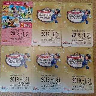 ディズニー(Disney)のディズニーリゾートライン3daypass6枚(鉄道乗車券)