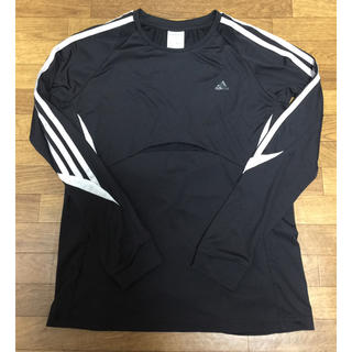 adidas3本ライン レディース長袖Tシャツ