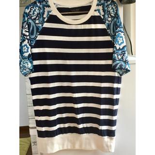 ザラ(ZARA)のZARAメンズ半袖Tシャツ Sネイビーボーダー柄(Tシャツ/カットソー(半袖/袖なし))