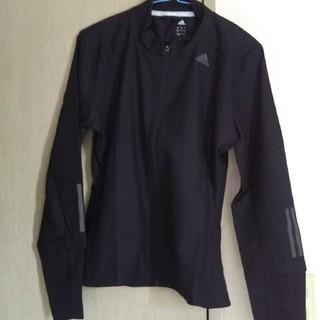 アディダス(adidas)のアディダス レディースランニング 上着 黒 L(ウェア)
