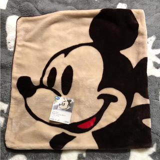 ディズニー(Disney)のフランネル クッションカバー  ミッキーマウス 新品未使用(クッションカバー)