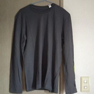 アディダス(adidas)のアディダス メンズロングTシャツ ダークグレー M(Tシャツ/カットソー(半袖/袖なし))