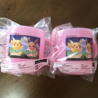 ポケモン(ポケモン)のミスド ポケモン コップ ピンク 2個セット 新品(キャラクターグッズ)