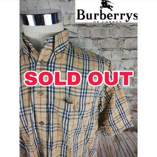 バーバリー(BURBERRY)のレア!USA BURBERRY 五分袖 ノバチェック柄シャツ(シャツ)