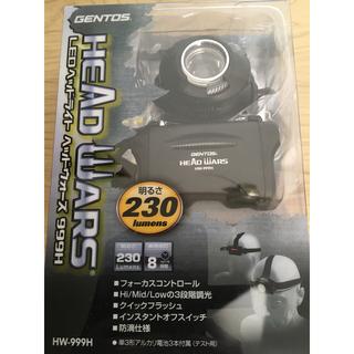 ジェントス(GENTOS)の値下げ 新品 GENTOS LEDヘッドライト ヘッドウォーズ 999H(ライト/ランタン)