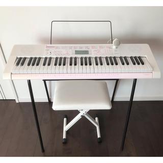 CASIO 電車キーボード 電子ピアノ LK-111 スタンド イス 付き