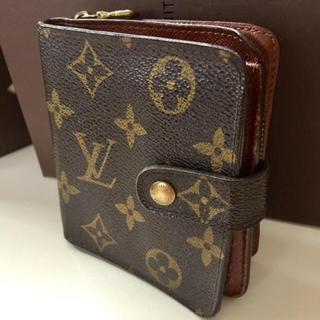 LOUIS VUITTON - 正規品ルイヴィトンコンパクトジップ折り財布