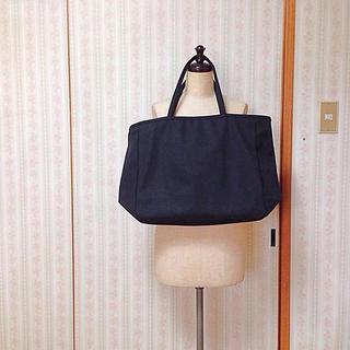 ムジルシリョウヒン(MUJI (無印良品))の無印良品 黒キャンバスバッグ(トートバッグ)