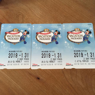 ディズニー(Disney)のディズニーリゾートライン ☆ 2 DAY PASS(鉄道乗車券)