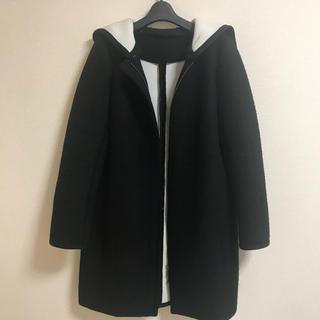 ザラ(ZARA)の圧縮ウール♡2wayフード付きコート(ロングコート)