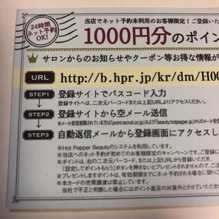 ホットペッパービューティー1000p(その他)