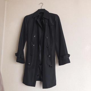 シマムラ(しまむら)のトレンチコート ブラック 就活用 オフィス OL スーツ(トレンチコート)