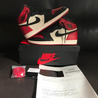 NIKE - 26.0 Nike AIR JORDAN 1 OG BRED TOE
