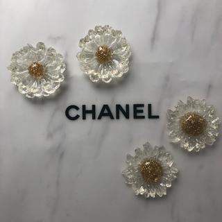 flower - ❁ おおぶり  flower  earring ❁ acryl / gold