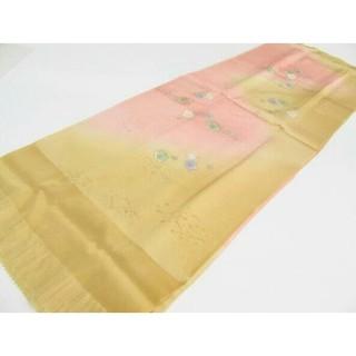 ★着物★  絹 帯揚げ 帯締めセット ぼかし 梅 桜 高麗組 和装小物(和装小物)