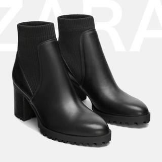 ZARA - 新品 ♡ ZARA ショートブーツ ソックスブーツ