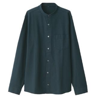 無印良品 新疆綿オックス スタンドカラーシャツ