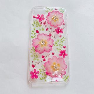iPhone 7/8対応♡完成品♡ジュリアン×アジアンタムの押し花スマホケース(スマホケース)