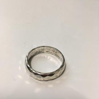 最終の最終値下げ!シルバー925  リング  たたき  槌目★(リング(指輪))