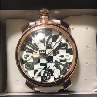 wholesale dealer bb356 b5560 ガガミラノ メンズ腕時計 チェス柄