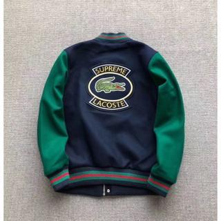 Supreme LACOSTE 18SS Wool Varsity Jacket(スタジャン)