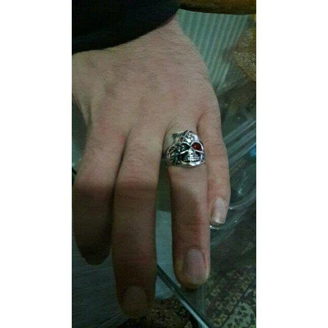 マルチカラースカルリング レディースのアクセサリー(リング(指輪))の商品写真