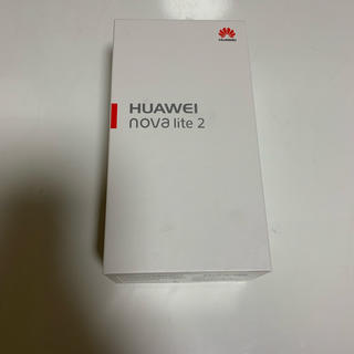 アンドロイド(ANDROID)の新品☆ Huawei nova lite 2 ブラック simフリー☆(スマートフォン本体)