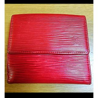 LOUIS VUITTON - LOUIS VUITTON モノグラム エピ レッド ダブルフック 二つ折り財布
