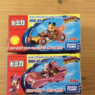 タカラトミー(Takara Tomy)のトミカ  ミッキーマウスとロードレーサーズ ミッキー、ミニー 2個セット(キャラクターグッズ)