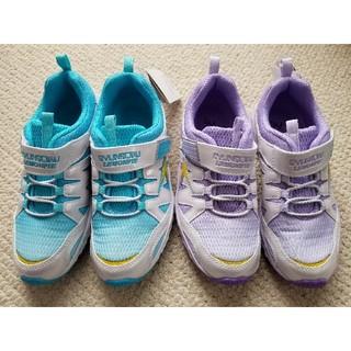 アキレス(Achilles)の新品♥️瞬足スニーカー2足🎵サイズ 21.5cmと22cm 運動靴 しゅんそく(スニーカー)