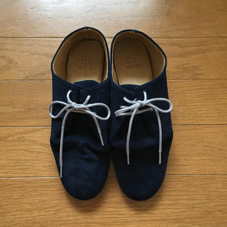 que shoes ノスト nost ネイビー S(ローファー/革靴)