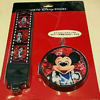 ディズニー(Disney)のイマジニングザマジック  ミッキー カメラストラップ(キャラクターグッズ)