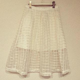 デイシー(deicy)のdeicy♡チェックオーガンジースカート(ひざ丈スカート)