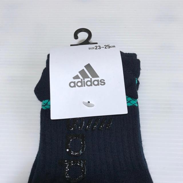 adidas(アディダス)のレディース【アディダス×福助】ランニングソックス 滑り止め付き 2足セット レディースのレッグウェア(ソックス)の商品写真