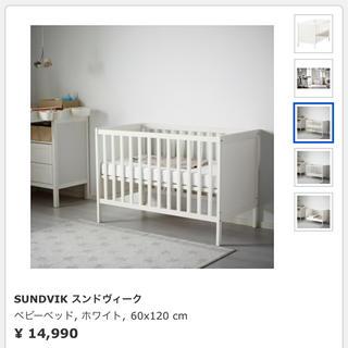 イケア(IKEA)のIKEA イケア ベビーベッド セット 一式 スンドヴィーク(ベビーベッド)