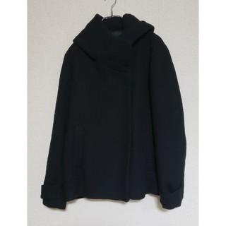 ザラ(ZARA)のZARA ザラ フード付きコート 黒 (ロングコート)