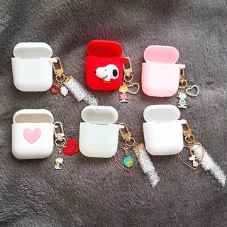 AirPods ケース カバー キーリング