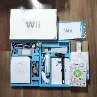 Wii - wii 本体 はじめてのwii セット 箱付き