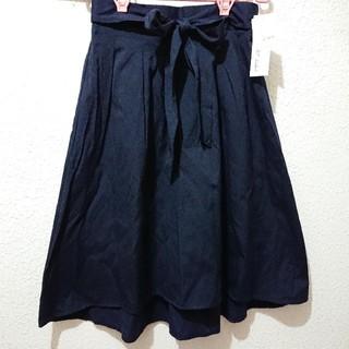 シマムラ(しまむら)の新品 しまむら ひざ丈 フレア スカート♥️Lサイズ GU ハニーズ(ひざ丈スカート)