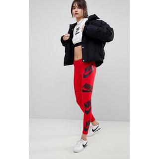 ナイキ(NIKE)の【Mサイズ 】新品タグ付き Nike ロゴ レギンス レッド ナイキ(レギンス/スパッツ)