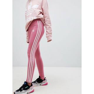 アディダス(adidas)の【 Mサイズ】新品タグ付き アディダス adidas レギンス 送料込 ピンク(レギンス/スパッツ)