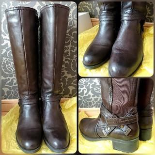 専用✨🎁✨確認用👢神戸屋の靴🎂神戸クエスト♥️牛革ロングブーツ(ブーツ)