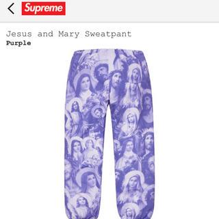 シュプリーム(Supreme)のsupreme jesus and mary purple pants 最安(スラックス)