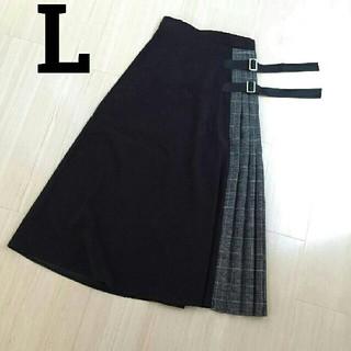 しまむら - MURUA風 切り替えスカート ベルト付プリーツスカート レオパードしまむらGU