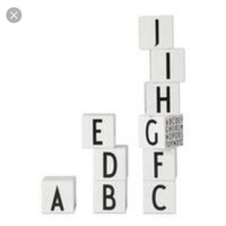 アクタス(ACTUS)のデザインレターズ アルファベットキューブ 積み木 ブロック モノトーンインテリア(置物)