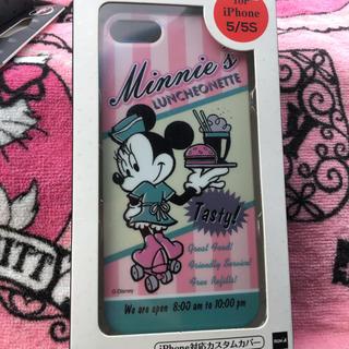 ディズニー(Disney)のディズニー ミニーマウス カフェポスター柄 iPhone5/5s カスタムカバー(iPhoneケース)