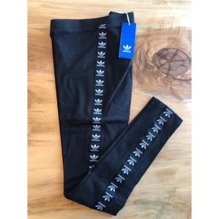 アディダス(adidas)の【 Mサイズ】新品タグ付き アディダス adidas レギンス 送料込 ブラック(レギンス/スパッツ)