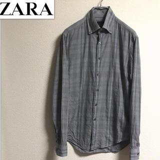 ザラ(ZARA)の【ZARA】グレンチェック シャツ 40 ブラックタグ(シャツ)