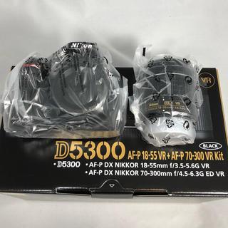 新品未使用 Nikon D5300 AF-P18-55レンズKITメーカー保証付